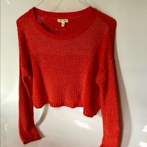 Urban Outfitter Orange Cropped Sweater NWOT Size S